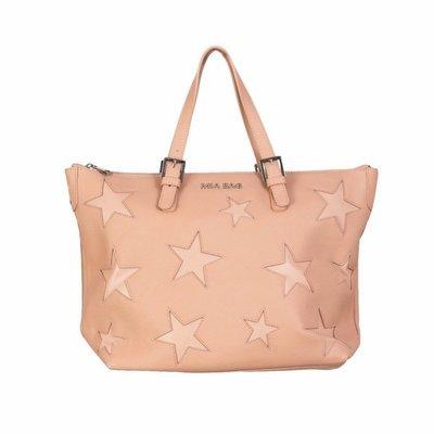 MIA BAG - Shopper in pelle con intagli stelle - Cipria