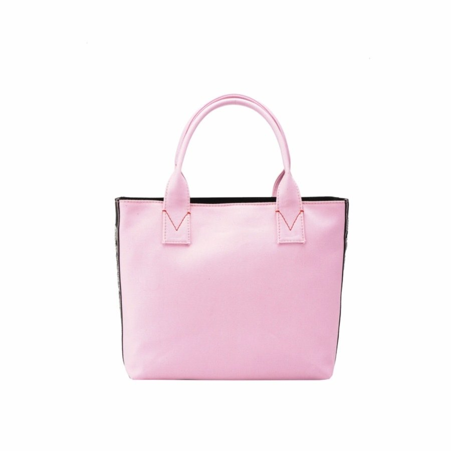 PINKO - Pinko Bag Abadeco Shopping Canvas Piccola - Pink