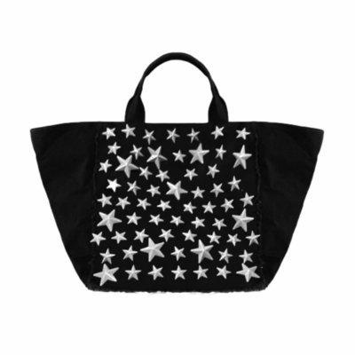 MIA BAG - Shopping in Denim e Borchie - Denim Nero