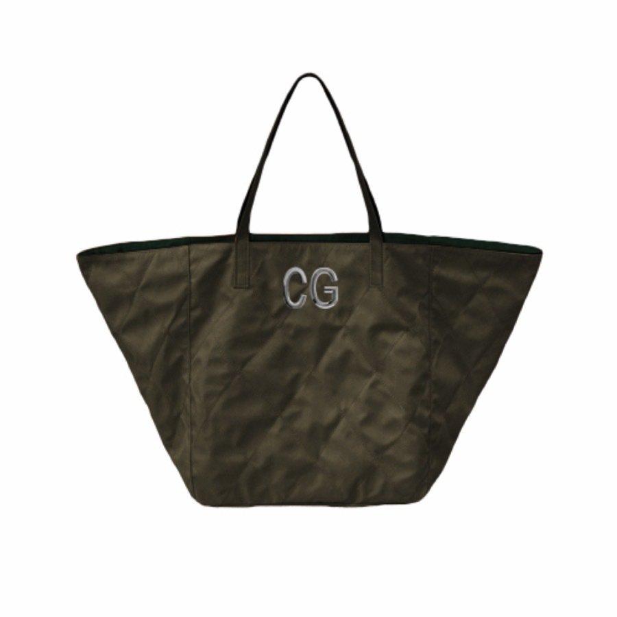 MIA BAG • Shopping Nylon Reversibile Personalizzabile - Fango