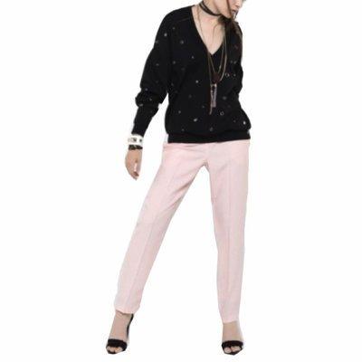 PATRIZIA PEPE - Pantalone in raso di viscosa - Soft Rose