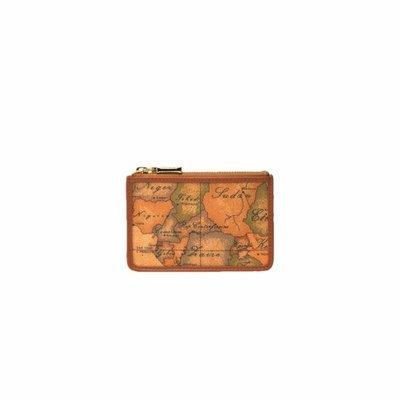 ALVIERO MARTINI - Geo Classic Porta tessere con zip - Natural