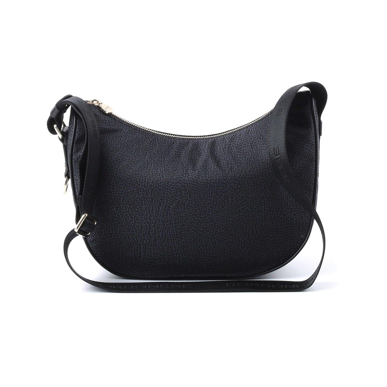 BORBONESE - Luna Bag Small in Jet OP - Black