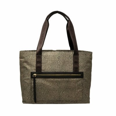 BORBONESE - Shopping orizzontale in Jet OP - OP Classic/Brown