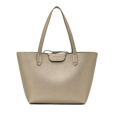 PATRIZIA PEPE - Borsa shopping reversibile - Double Gold/Taupe