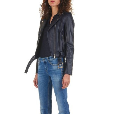 MICHAEL KORS - Biker in pelle - True Navy