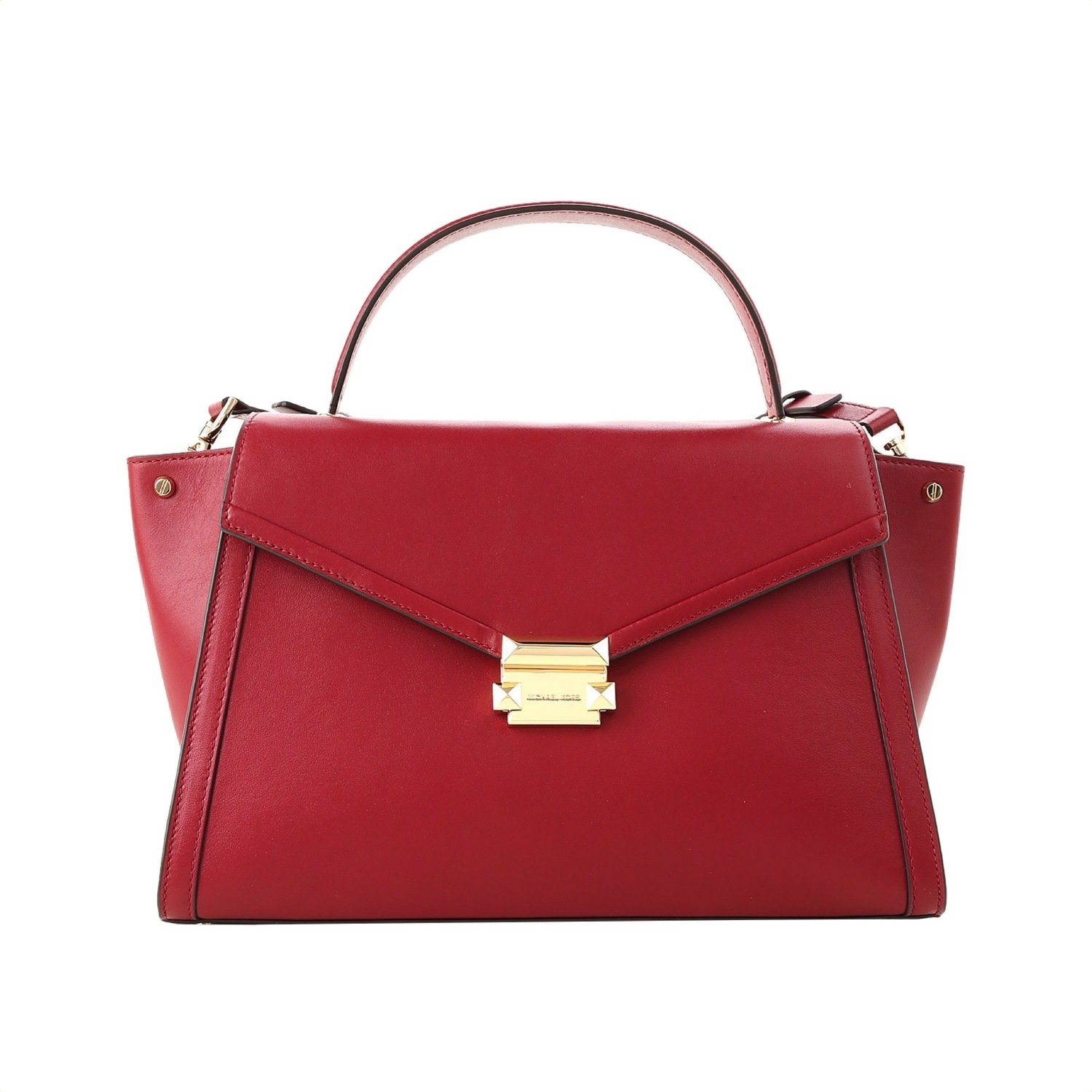 MICHAEL KORS - Whitney LG Top Handle Satchel - Maroon