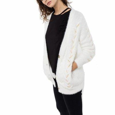 PATRIZIA PEPE - Cardigan lungo - Bianco