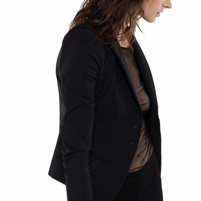 PATRIZIA PEPE - Giacca in tessuto bielastico couture - Nero