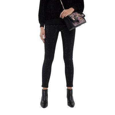 PATRIZIA PEPE - Jeans con Strass - Shiny Black
