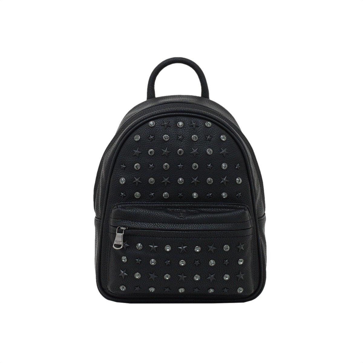 PATRIZIA PEPE - Zaino con borchie e strass - New Star Black