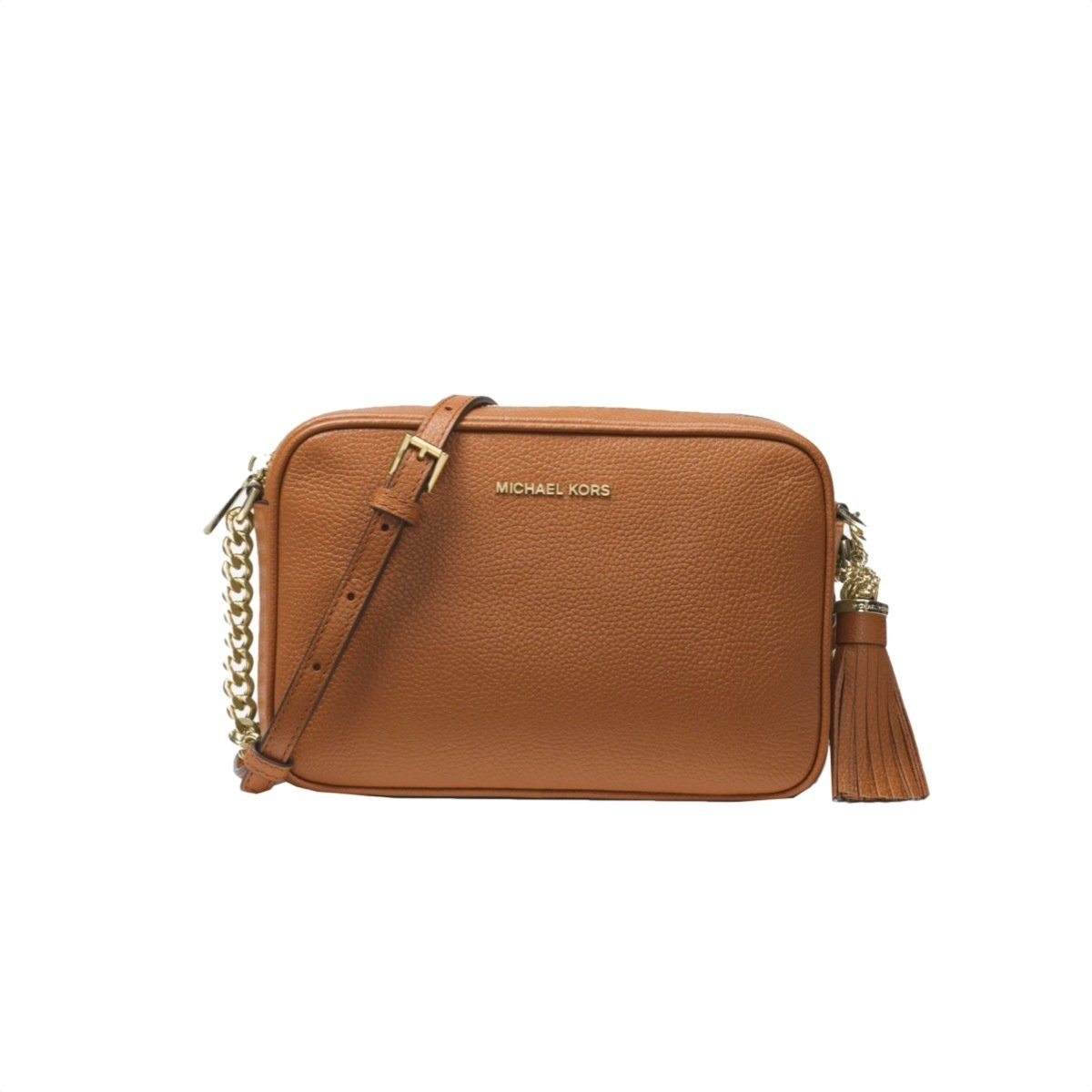 MICHAEL KORS - Tracolla Ginny in pelle - Acorn