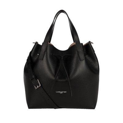 LANCASTER - Large Bucket Bag - Noir in Nude