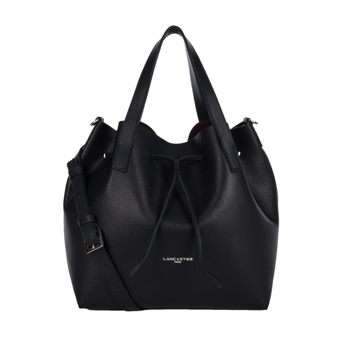 LANCASTER - Large Bucket Bag - Bleu Fonce in Bordeaux