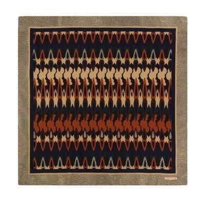 BORBONESE - Foulard in seta con motivo gocce 90x90 - Corteccia Multicolore