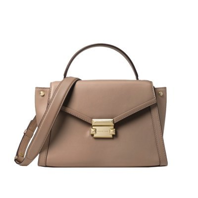 MICHAEL KORS - Whitney MD Top Handle Satchel - Truffle