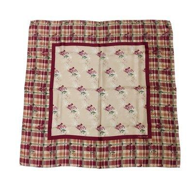 COCCINELLE - Garden Tartan Foulard in seta 90x90 - Multicolor Pivoine