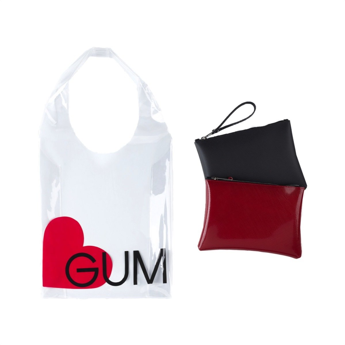 GUM - Shopper Limited Edition Heart + 1 pochette Numbers