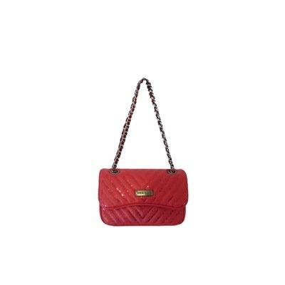 MIA BAG - Tracolla Mini Paillettes - Rosso