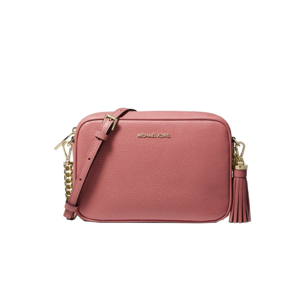 MICHAEL KORS - Tracolla Ginny in pelle - Rose