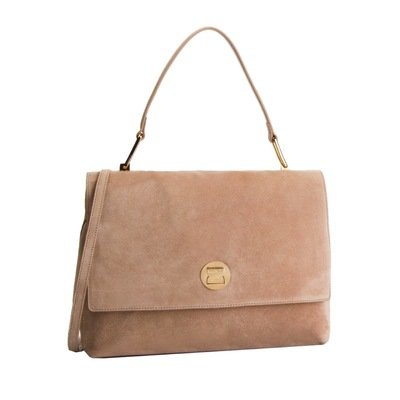 COCCINELLE - Liya borsa a mano grande in suede - Taupe