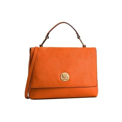 COCCINELLE - Liya Borsa a mano media in pelle - Orange/Taupe