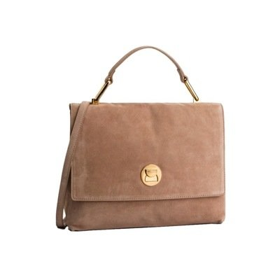 COCCINELLE - Liya Borsa a mano media in suede - Taupe