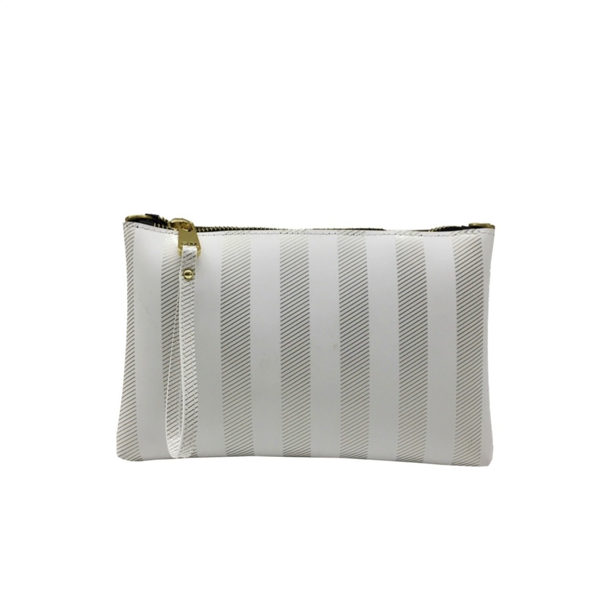 GUM - Numbers Pochette Soft Stripe L - White/Gold