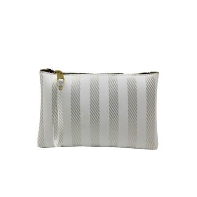 GUM - Numbers Pochette Soft Stripe L - White/Gold