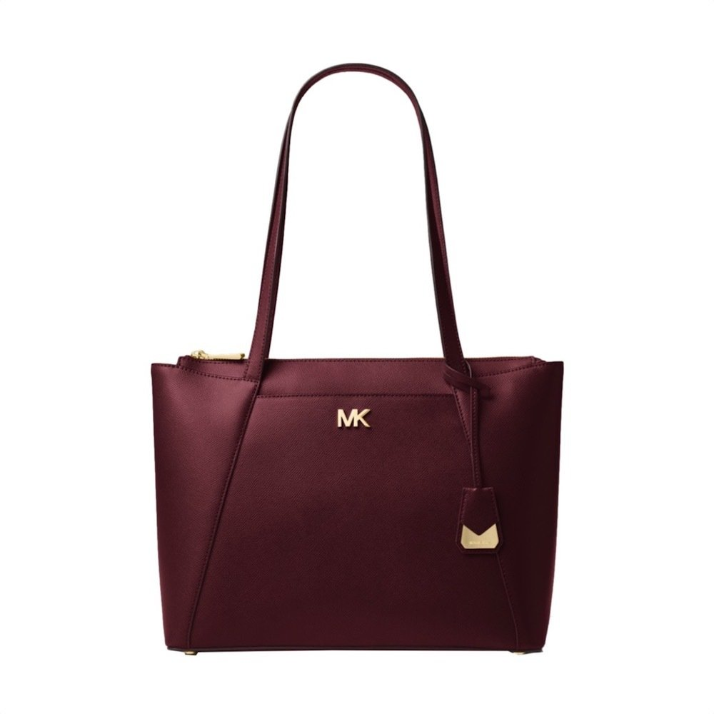 MICHAEL KORS - Maddie MD Shopping Bag - Oxblood