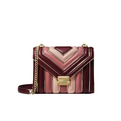MICHAEL KORS - Whitney LG Shoulder Bag - Oxblood Multi