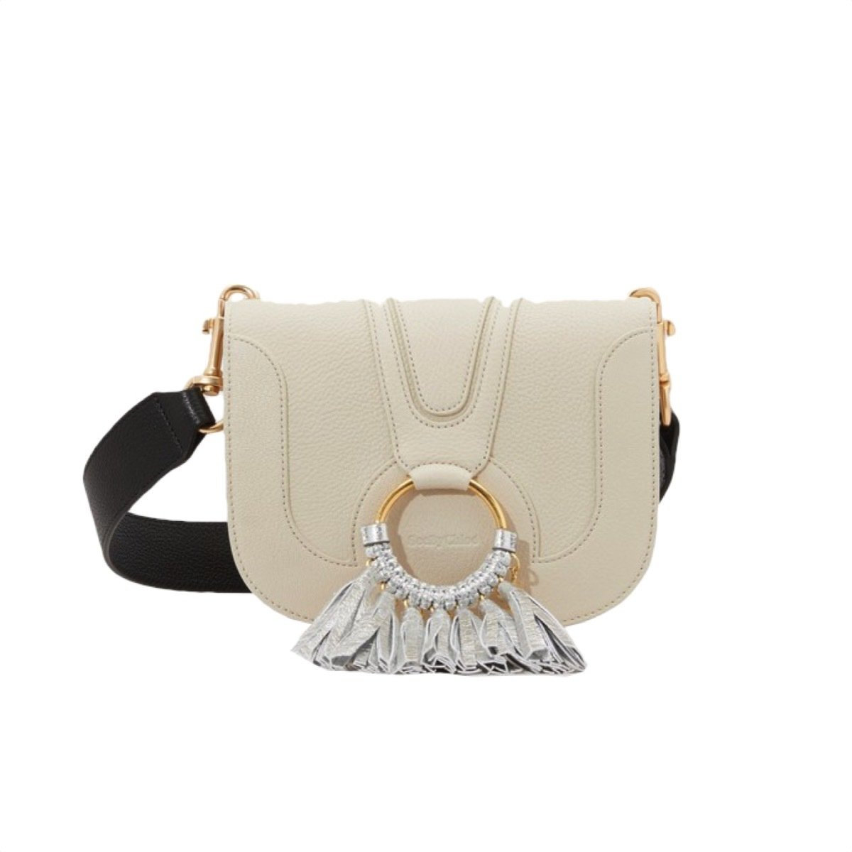 SEE BY CHLOÉ - Hana Small Crossbody Bag con frange - Cement Beige