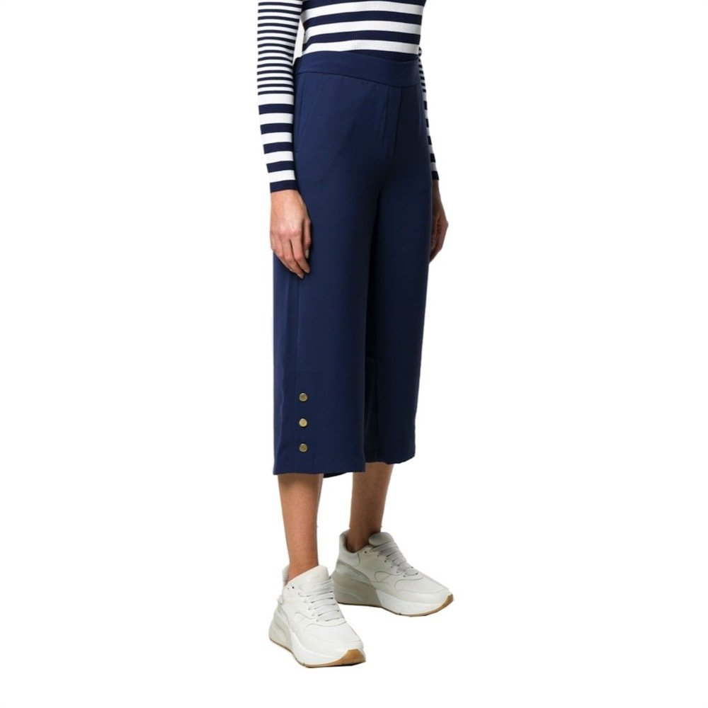 MICHAEL KORS - Pantaloni larghi - True Navy