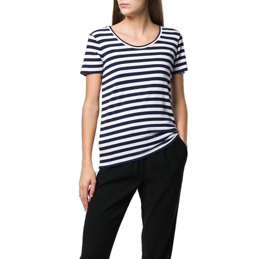 MICHAEL KORS - T-shirt  in jersey di cotone righe  - TrueNavy/White