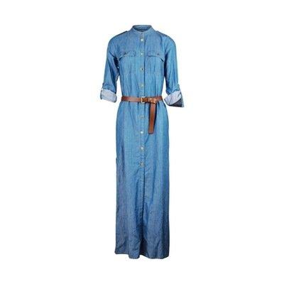 MICHAEL KORS - Vestito lungo denim - Light Cadet Wash