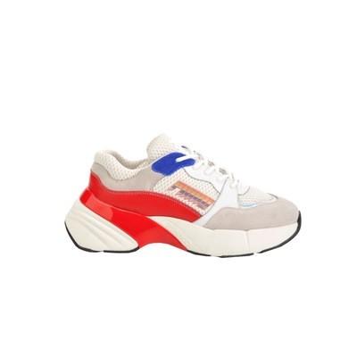 PINKO - Sneakers Shoes To Rock in rete tecnica e suede - Bianco/Rosso/Blu