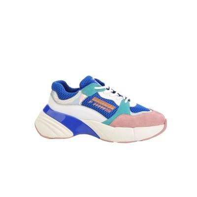 PINKO - Sneakers Shoes To Rock in rete tecnica e suede - Blu/Bianco/Rosa