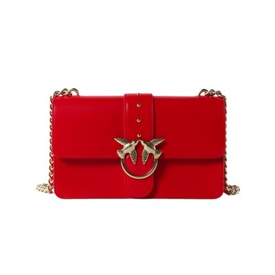 PINKO - Love Simply 10 Tracolla in pelle - Red