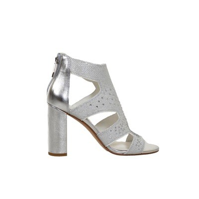 WHAT FOR - Effy Sandalo con strass - Silver