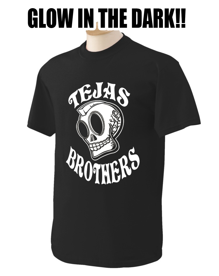 Black Glow Skull T-Shirt