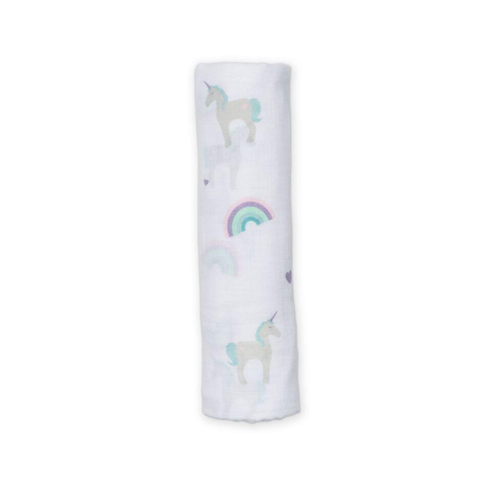 Couverture en mousseline Licornes