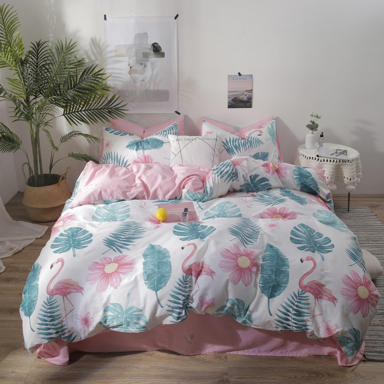 Ensemble de literie Flower Flamingo