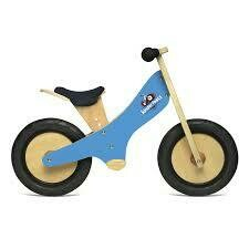 Draisienne en bois 2 roues Bleu