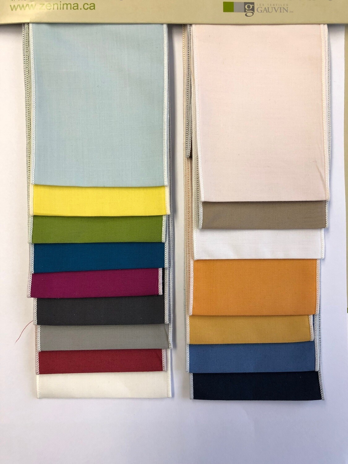 Ensemble de draps Poly-Coton Uni (16 couleurs)