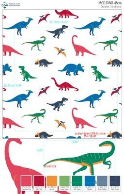 Ensemble de draps en flannelle - Dino
