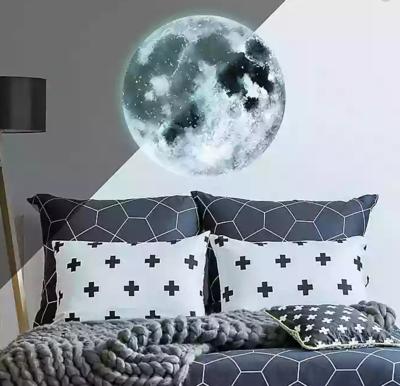 Collant mural - Lune et étoiles - Brillent dans le noir
