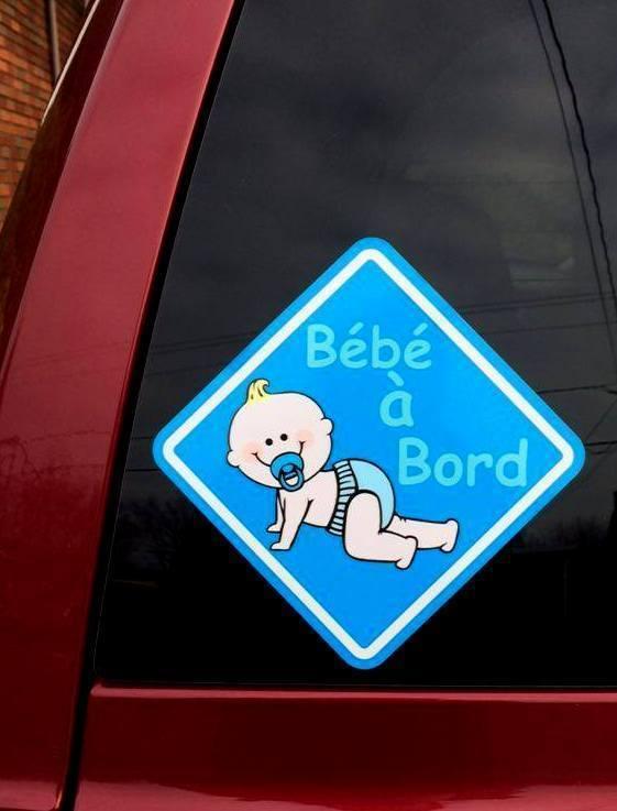 Collant bébé à bord BLEU