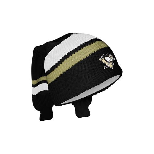 Tuque en molleton réversible Penguins de Pittsburgh.