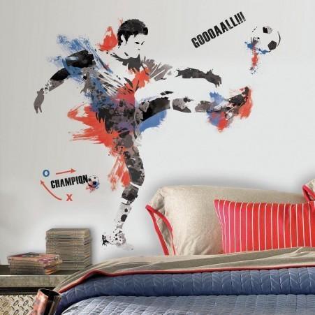 Collant mural champion de soccer