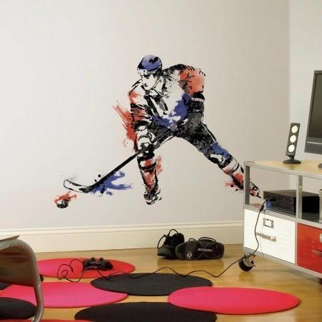 Collant mural champion de hockey